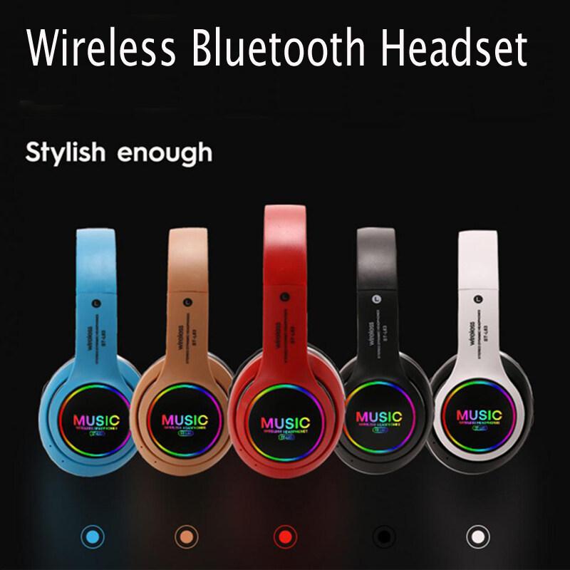 Bluetooth Tai Nghe Tai Nghe Không Dây, Chơi Game Âm Thanh Stereo Tai Nghe, Âm Thanh Có Thể Gập Lại Tai Nghe Với Micphone Hỗ Trợ Thẻ TF LED Bass