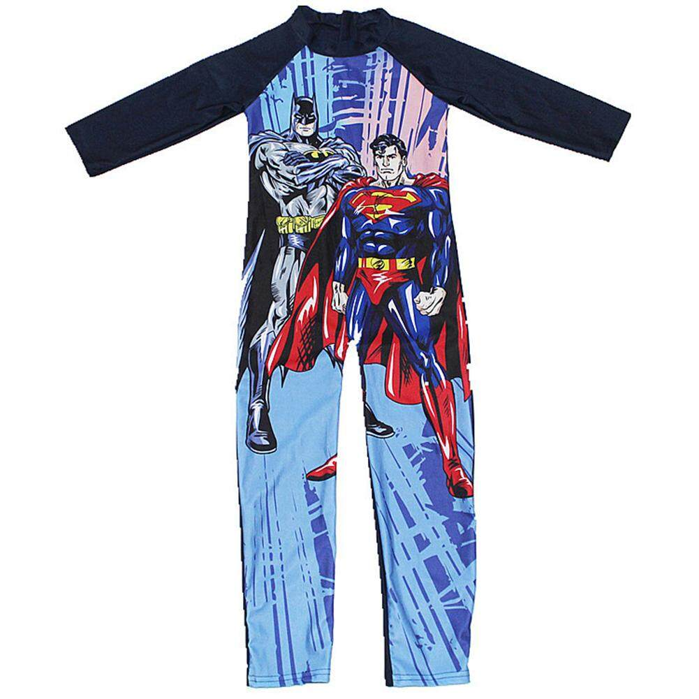 Big House Cartoon Boy Kids Swimsuit Baby Swimming Suit Long Sleeved Muslim Swimwear