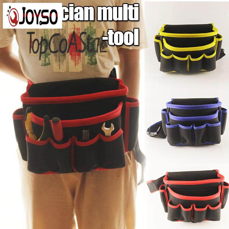 JOYSO Durable Electrician Tool Waist Bags Hardware Construction Pouch with Waist Belt