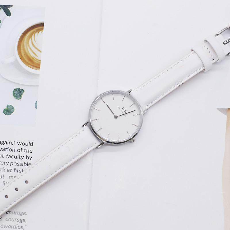 Dw_watch for women is European and American fashion simple quartz watch white dial 32mm belt lovers Malaysia