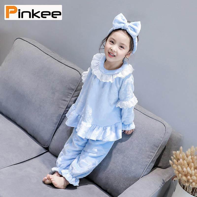Nơi bán Pinkee Bé Gái Dép Nỉ Bộ Đồ Ngủ Bộ Ấm Nỉ mặc Nighties Homewear