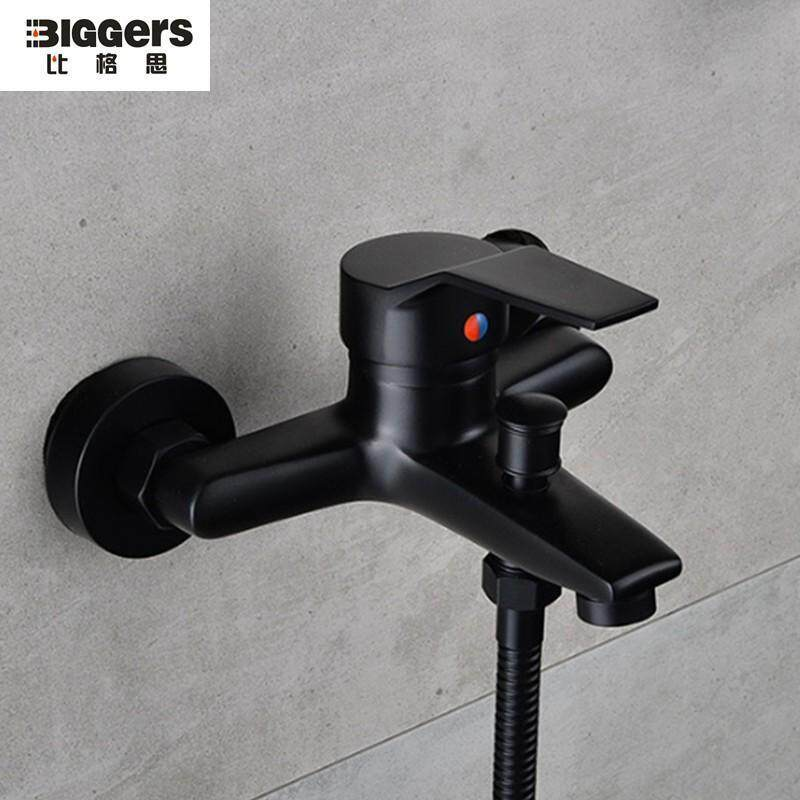 Biggers sanitary black color brass material bathroom shower faucet single handle cold hot water mixer tap shower tap