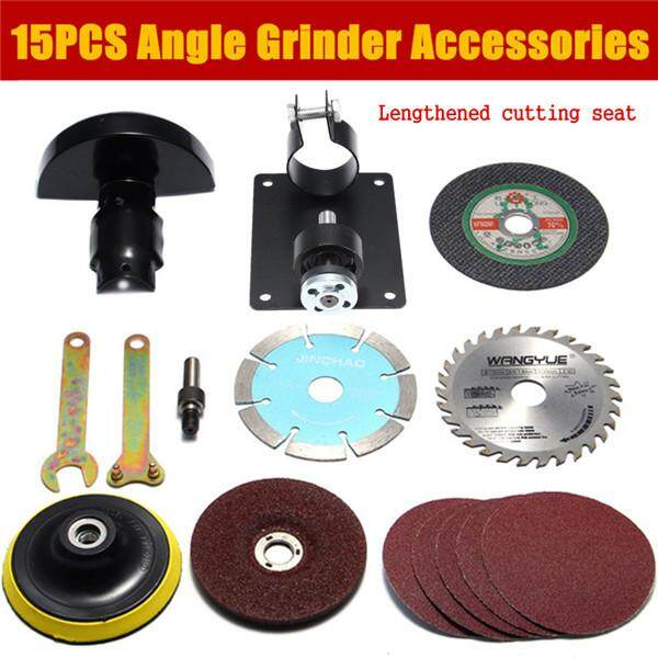 15pcs Accessories Included Lengthened Cutting Seat For Angle Grinder