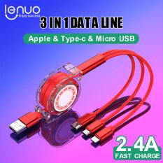 Lenuo 1M Cáp Sạc Nhanh 3 Trong 1 Kính Viễn Vọng Loại C / Lightning / Micro USB Cáp Cho iPhone/Samsung/Huawei / Oppo / Xiaomi / Vivo Cáp Sạc