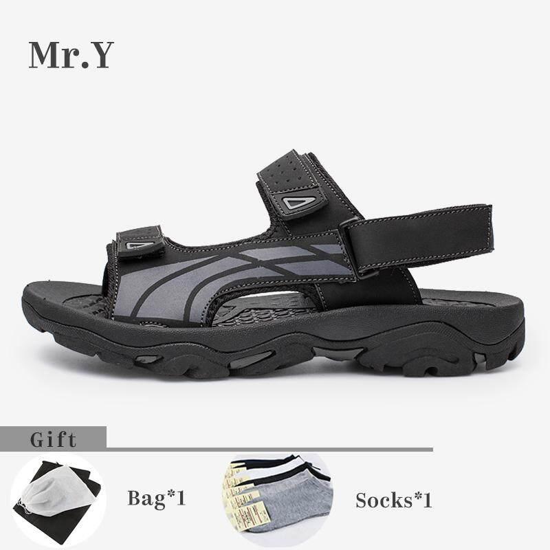 041712521da3 Mr.Y Men Sport Sandals Genuine Leather Hiking Shoes Summer Shoes Men Casual  Beach Shoes