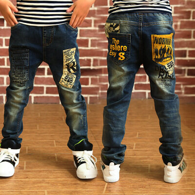 Children's children's pants boy denim trousers 2019 spring and autumn new Korean version of the tide big children's pants factory direct sales