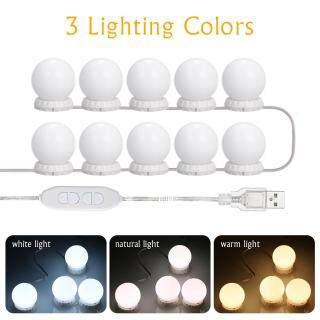 Bộ Đèn Gương Led Trang Điểm Với 10 Bóng Đèn Đèn Dây Gương USB Có Thể Điều Chỉnh 10 Độ Sáng & 3 Chế Độ Chiếu Sáng Để Trang Điểm Bàn Trang Điểm thumbnail