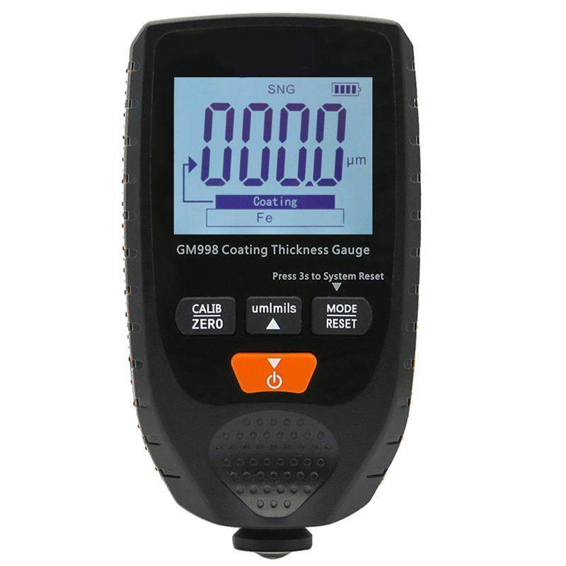 GM998 Car Paint Coating Thickness Gauge Car Paint Electroplate Metal Coating Thickness Tester Meter 0-1500Um Fe & NFe Probe