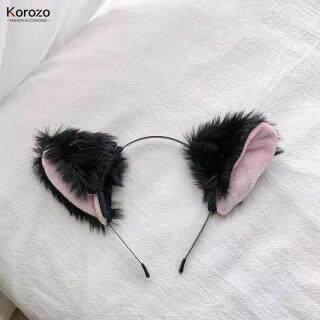 Trang Sức Korozo, Băng Đô Tai Mèo Hoạt Hình Mới 2021, Chuông Tai Mèo Cá Tính Băng Đô Cho Nữ thumbnail