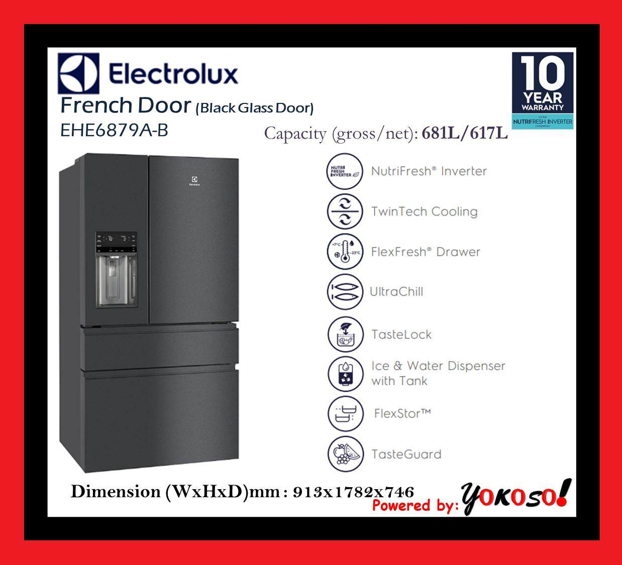 Electrolux EHE6879A-B 617L NutriFresh® Inverter French Door Fridge