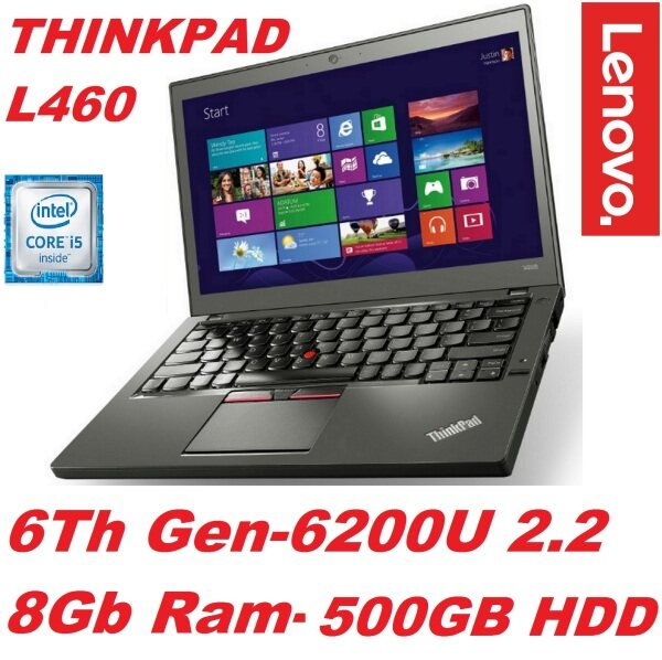 (REFURBISHED)LENOVO THINKPAD L460(INTEL CORE i5-6200U 6TH GEN CPU/8GB DDR3 RAM/500GB HDD/14  LED ANTI GLARE SCREEN/INTEL HD GRAPHIC CRAD/BUILT IN LAN CARD ,WIFI/ USB 3.0/BUILT IN WE CAM/FINGER PRINT READER/6 CELL BATTERY/WIN 10 PRO/FREE CARRY CASE Malaysia
