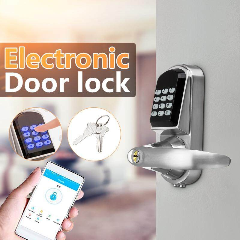 【Free Shipping + Flash Deal】Keyless Bluetooth Password Door Lock Electronic Pad Home Security Entry Code Key
