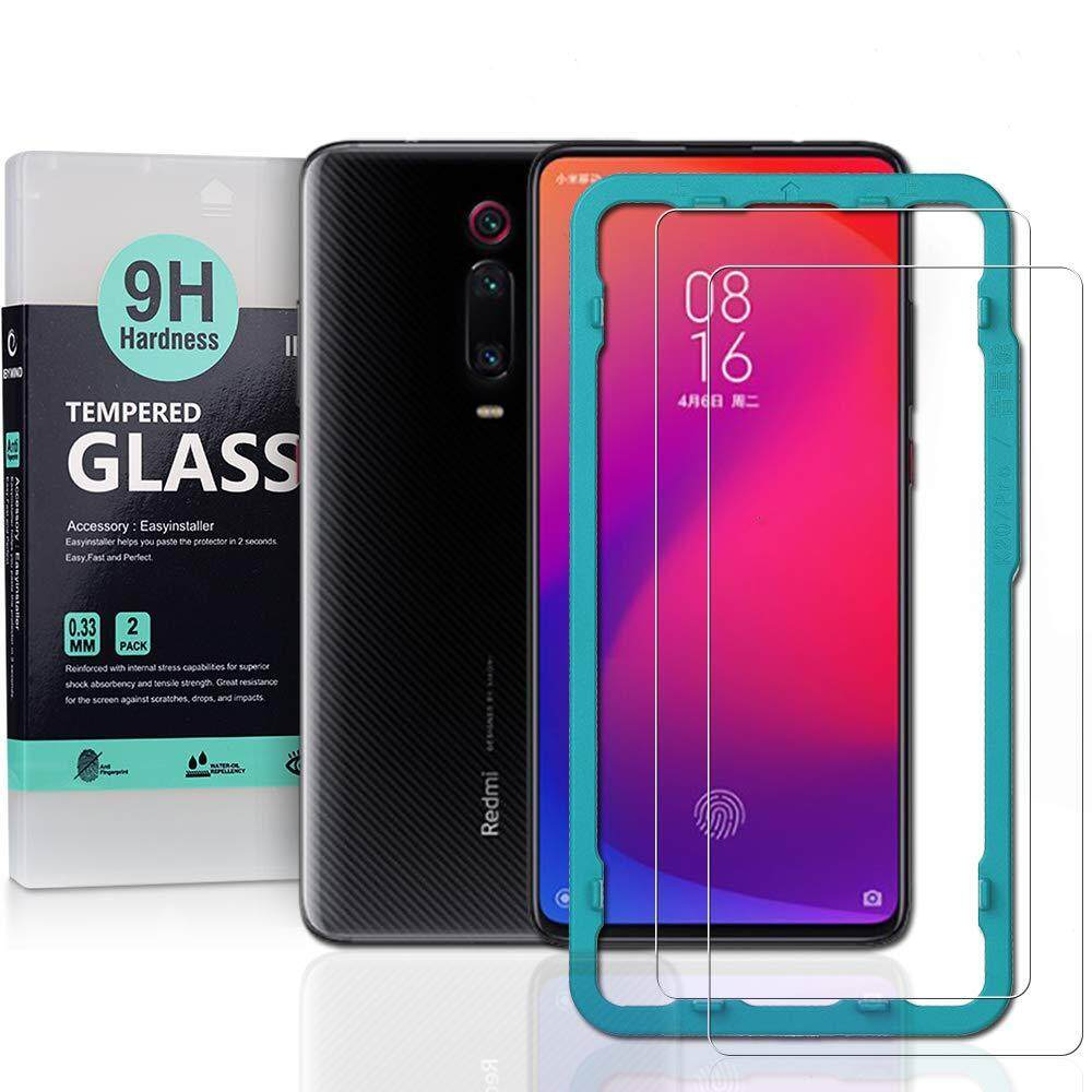 Ibywind Screen Protector for Xiaomi Mi 9T/9T Pro Redmi K20/ K20 Pro [Pack  of 2] 9H Tempered Glass Screen Protectors with Easy Install Kit-Transparent