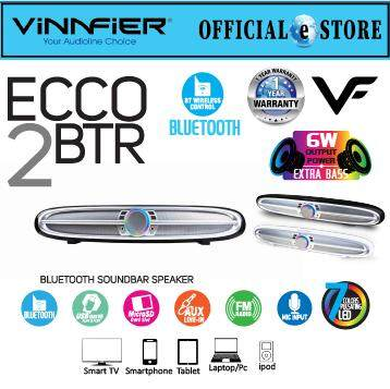 VINNFIER ECCO 2BTR Wireless Bluetooth Portable Speaker RGB 7 Color Pulsating LED Lights 6watts with FM Radio, Micro SD card and USB Slot