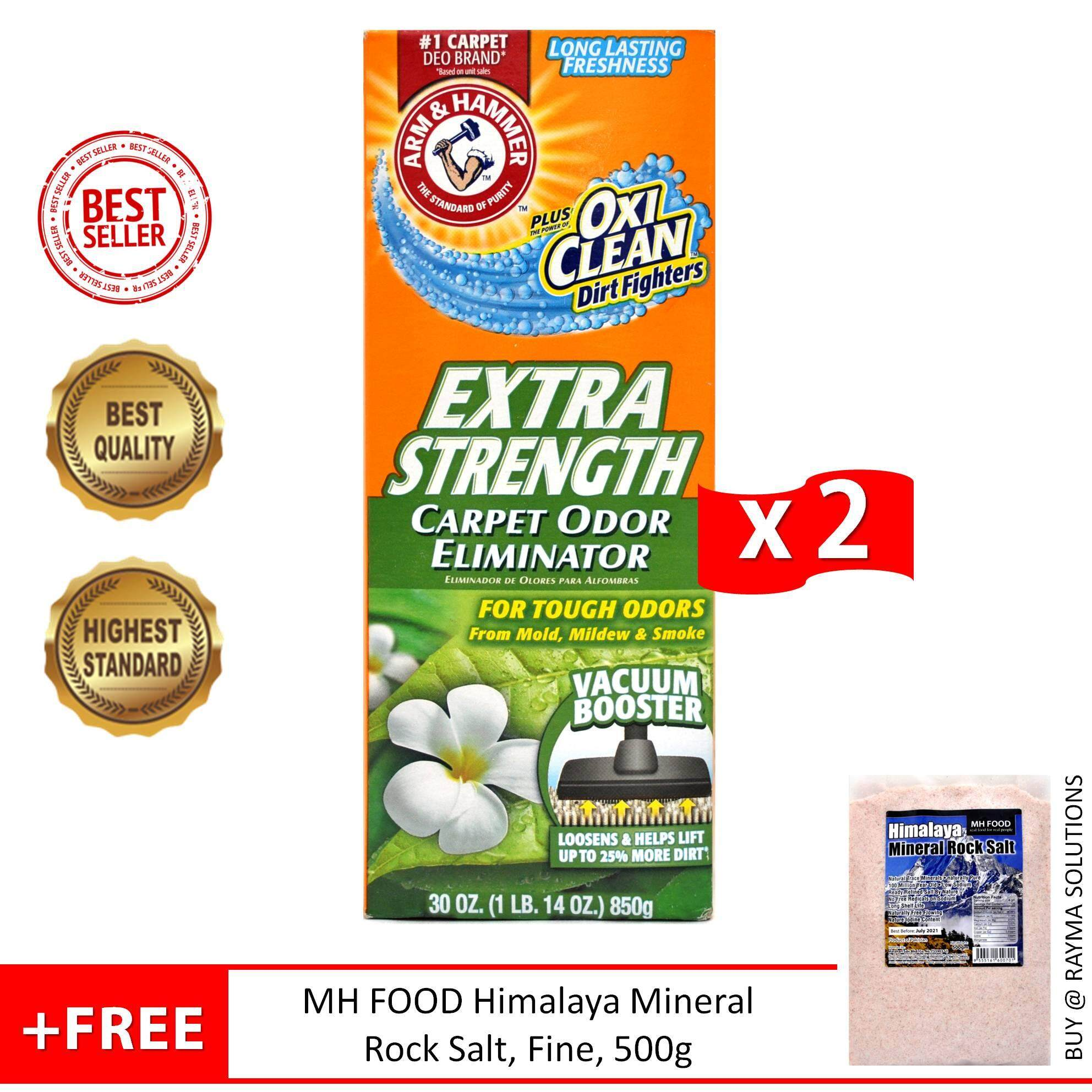 [$AVE More] ARM & HAMMER Extra Strength Carpet Odor Eliminator, Plus OxiClean Dirt Fighters, 850g - Twin Pack