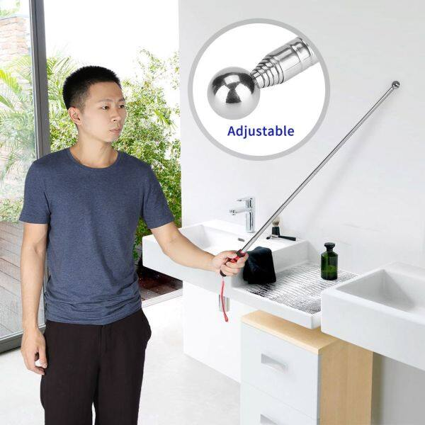 [Flash Promotion] House Decoration Sound Detection Hammer Test Hammer 100cm Thickened Telescopic Rod Hollowing Drum Detection Hammer For House Decorat