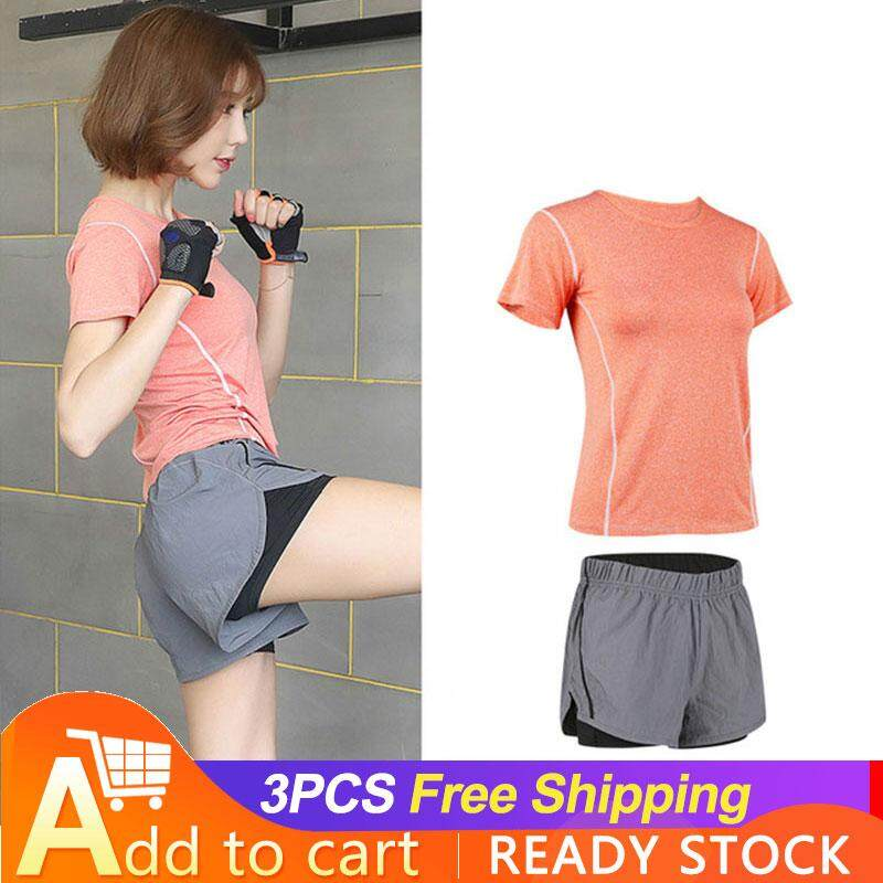 cf50891a5cb DS T-Shirts for women sports suit female summer gym running morning run  quick dry professional fitness clothes yoga clothes