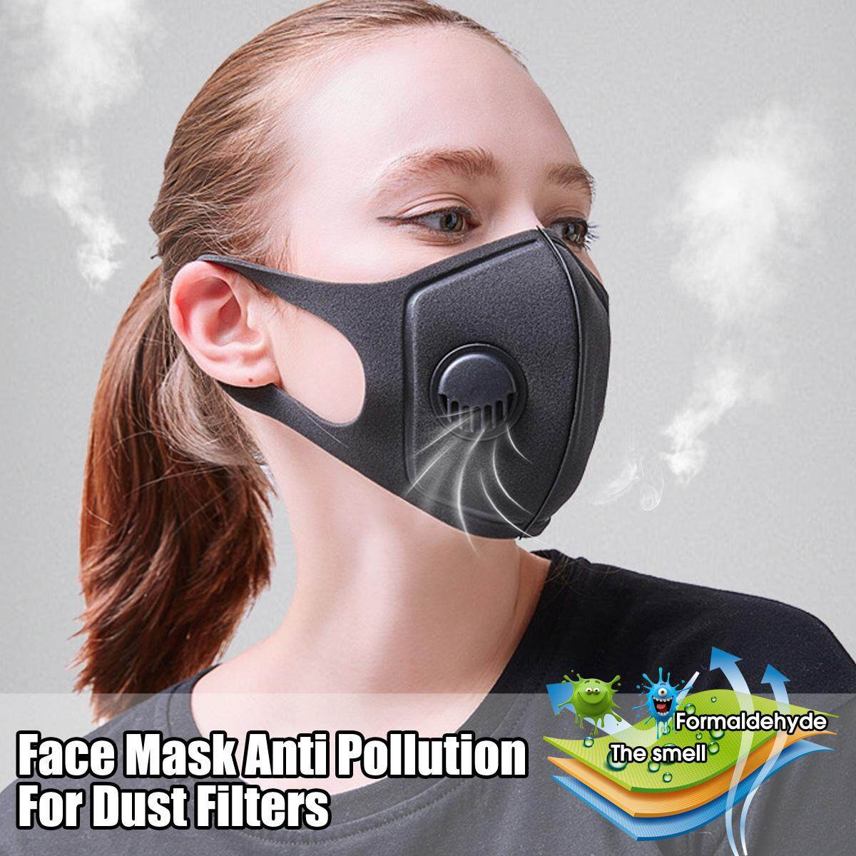 Reusable Double layer Mouth Masks Face Mask Anti-dust Air Mask Smog PM2.5 Purifier Filter Activated Carbon Filter