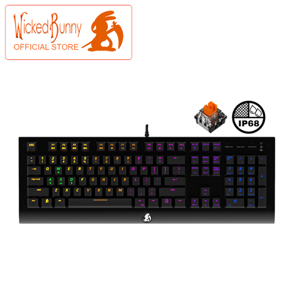Wicked Bunny AGILITY RGB Optical Mechanical Switches Gaming Keyboard Malaysia