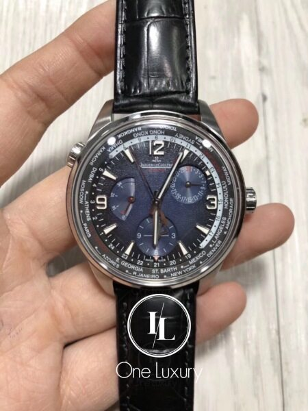 [ONE LUXURY] MASTER CONTROL GEOGRAPHIC BLACK DIAL 39MM ON BLACK LEATHER STRAP Q1428421 Malaysia