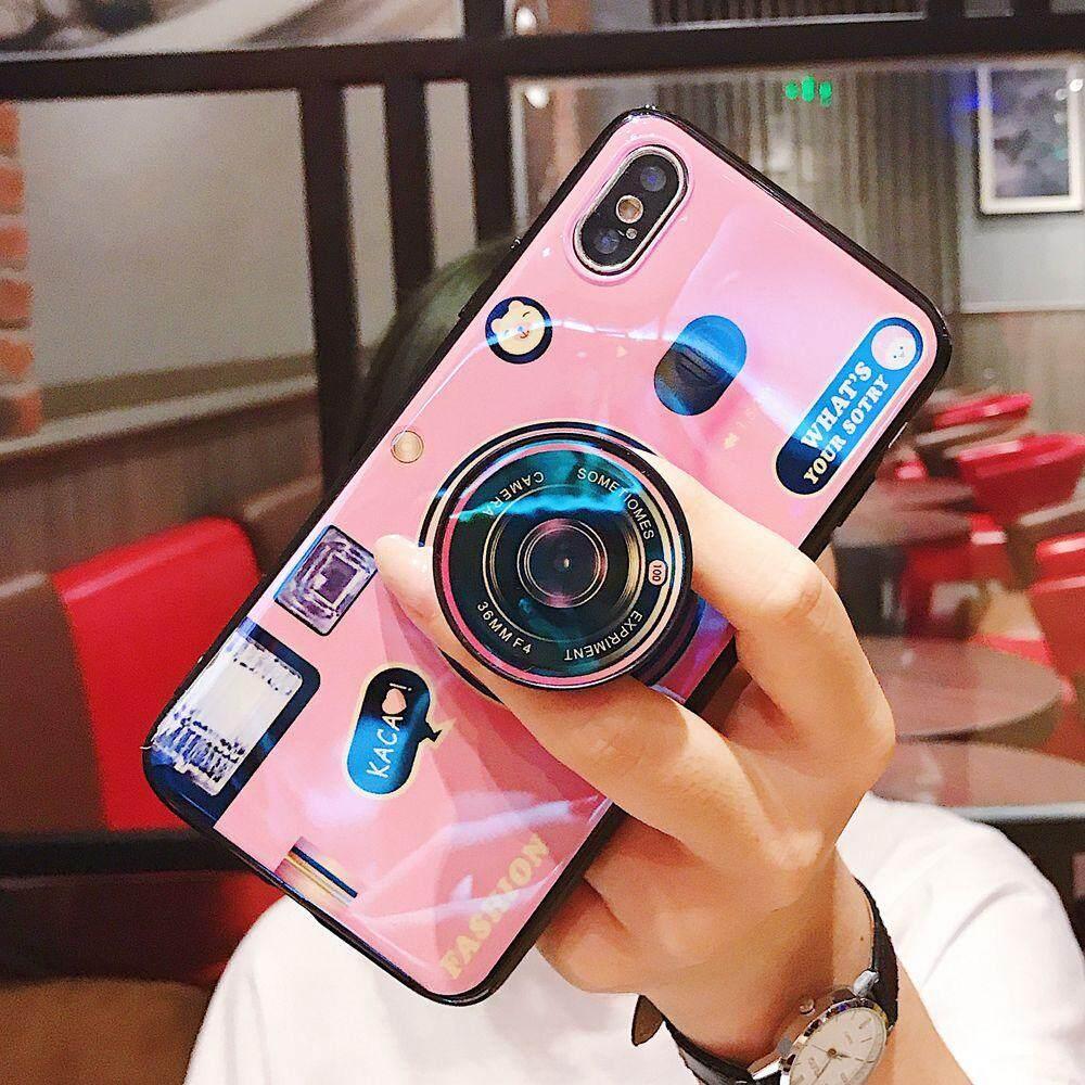 Kickstand Casing Ponsel untuk Samsung Galaxy J2 J4 J5 J6 J7 Prime J4plus J6 PLUS Penuh Kulit Penutup Pelindung Silikon Samsung J2 J3 J5 j7 Pro J2 2018 J6 J8 2018 J330 J530 J730 dengan Lucu Dudukan Kamera Pemegang