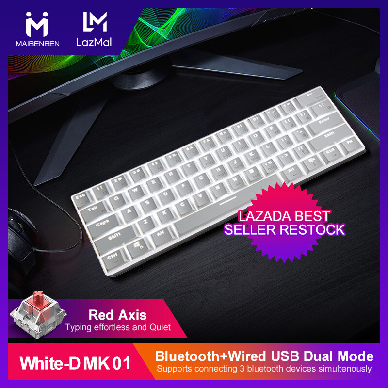 Local Warranty Maibenben Tenkeyless Bluetooth Wired Tournament Edition Mechanical Keyboards Red Blue Switch 61keys 60 Gaming Keyboard Led Backlit Computer Accessories Game At Home Free Shipping Dmk01 Lazada