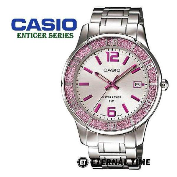 (2 YEARS WARRANTY) CASIO ORIGINAL LTP-1359D-4AV STAINLESS STEEL BAND LADIES WATCH (LTP-1359D) (JAM TANGAN WANITA / JAM TANGAN PEREMPUAN / CASIO WATCH / CASIO WATCH WOMEN / WATCH FOR WOMEN) Malaysia