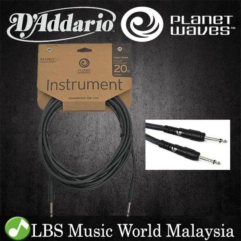 Daddario PW-CGT20 Planet Wave Instrument Cable Guitar Keyboard Daddario (6 Meter PW CGT20) Malaysia