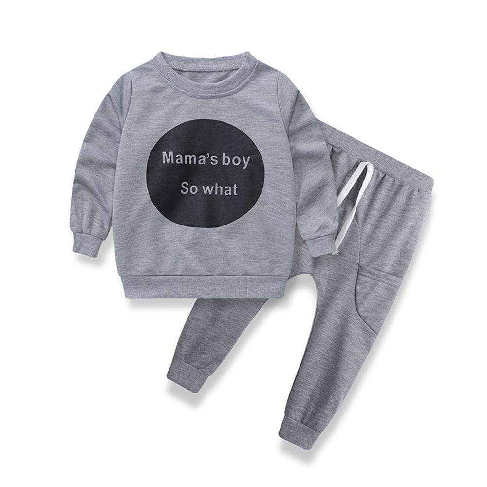 Niceeshop Boys Letter Pattern Pajamas Kids Cotton One Suit Children Sleepwear Toddler Clothes By Nicee Shop.