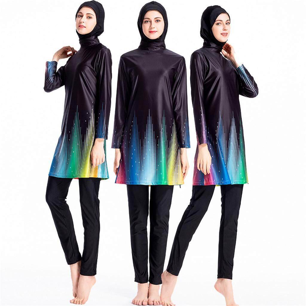 76092f2ed8ba4 USERKING SHOP Modest Women Muslimah Plus Size High Quality Muslim Short  Sleeve Swimwear Islamic Swimsuit for
