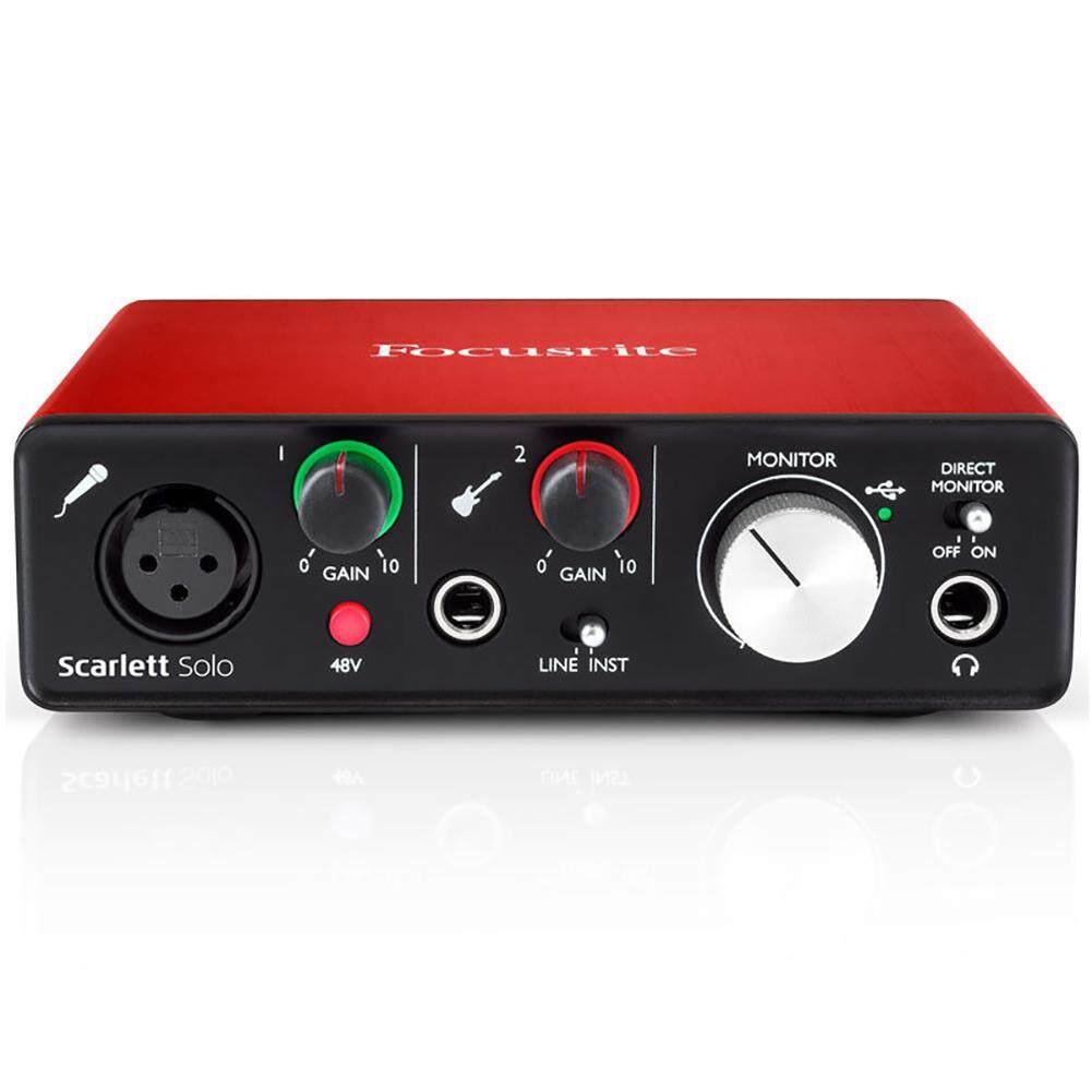 Sound Card 2nd Generation External Recording Arrangment Focusrite Scarlett Solo