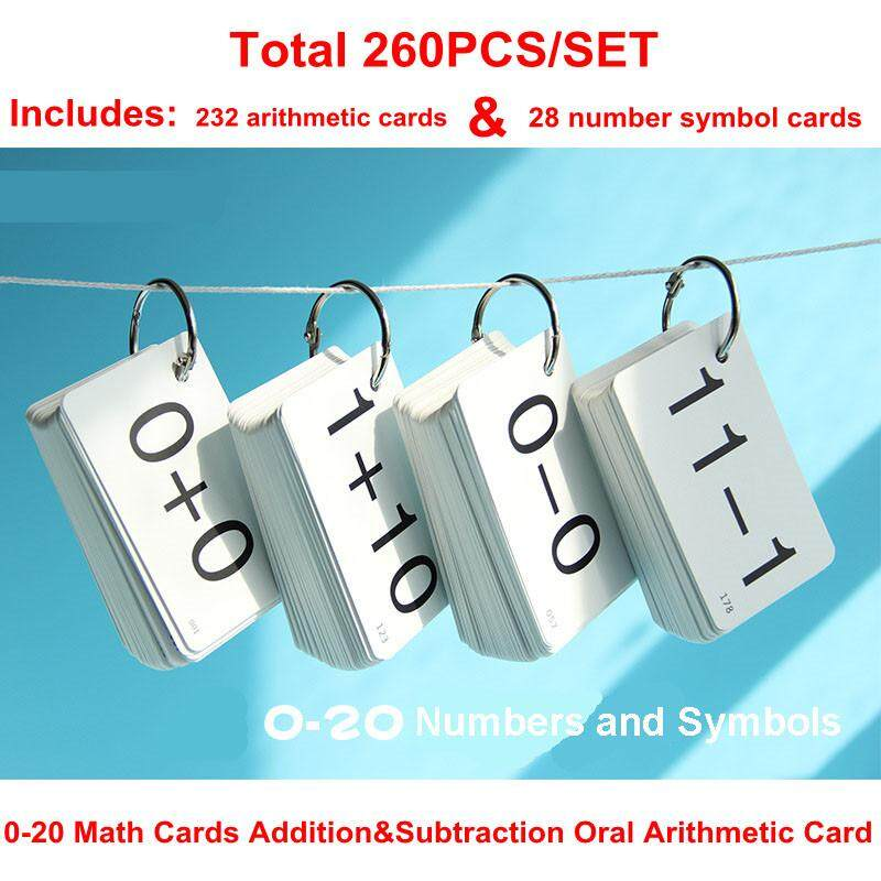 0-20 Math Cards Addition&subtraction Arithmetic Card Baby Early Learning Cards Flash Cards Montessori Oral Calculation Educational Toys For Children By La Chilly.