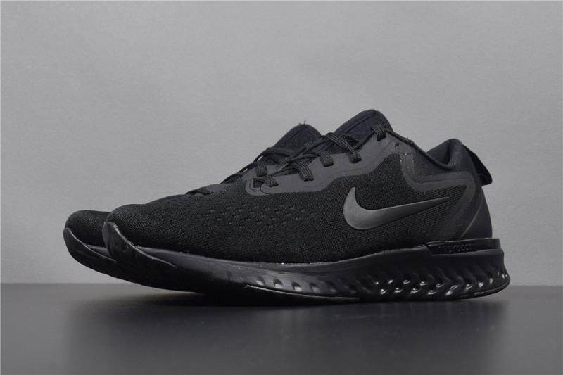 พิจิตร Nike_Odyssey React Shield Men s Running Shoes Black Metallic Pewter Sneakers983369
