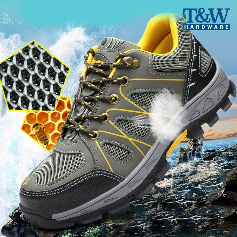 Summer Breathable Safety Shoes Men Work Shoes Anti-smashing Anti-piercing Protective Shoes Casual Sports Shoes