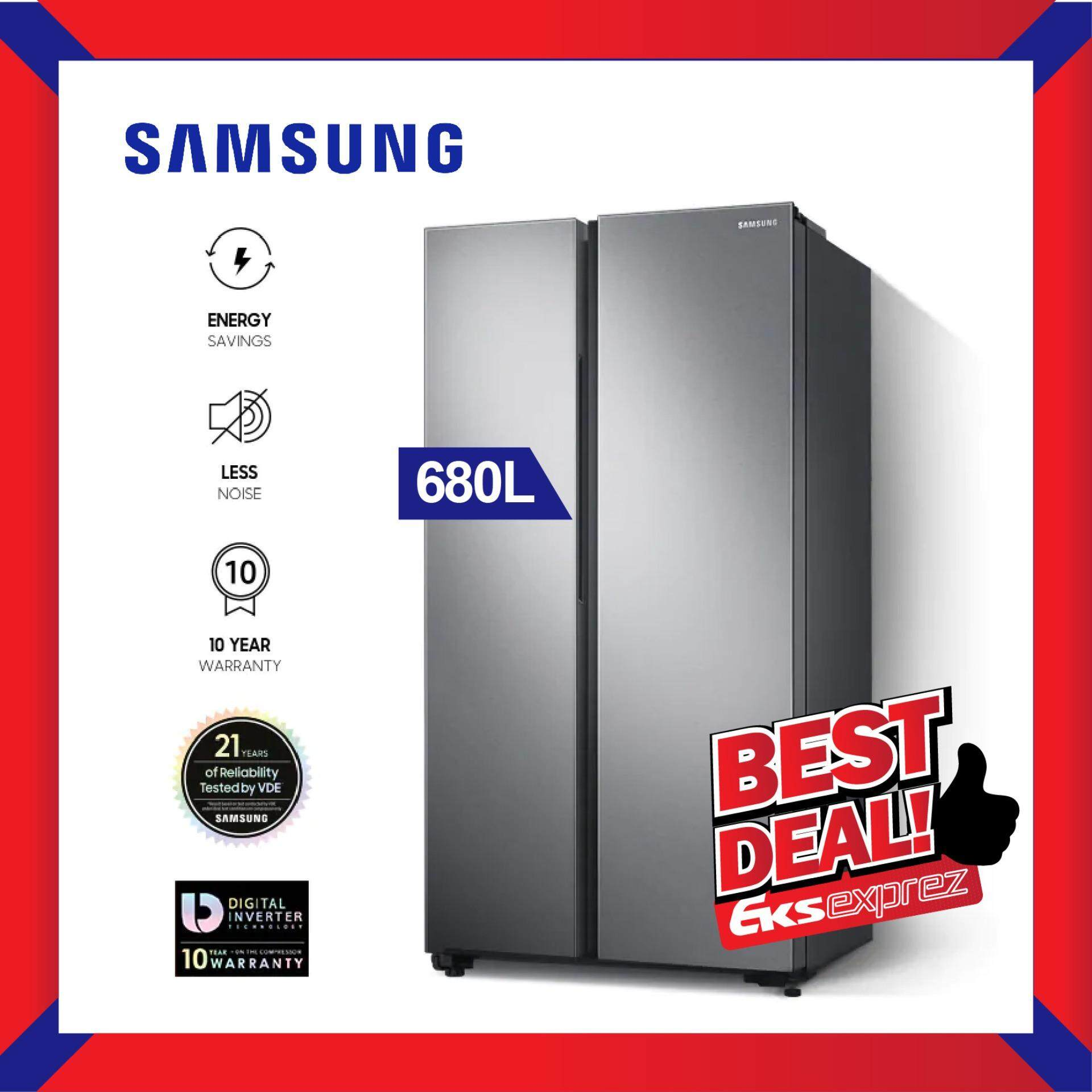 Samsung RS62R5031SL/ME 680L Side by Side Fridge Refrigerator with Large Capacity (SpaceMax)