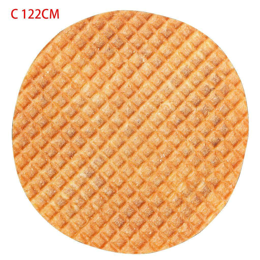 Malonestore Comfort Food Creations Biscuit chocolate Novelty Blanket Perfectly Round Tortill