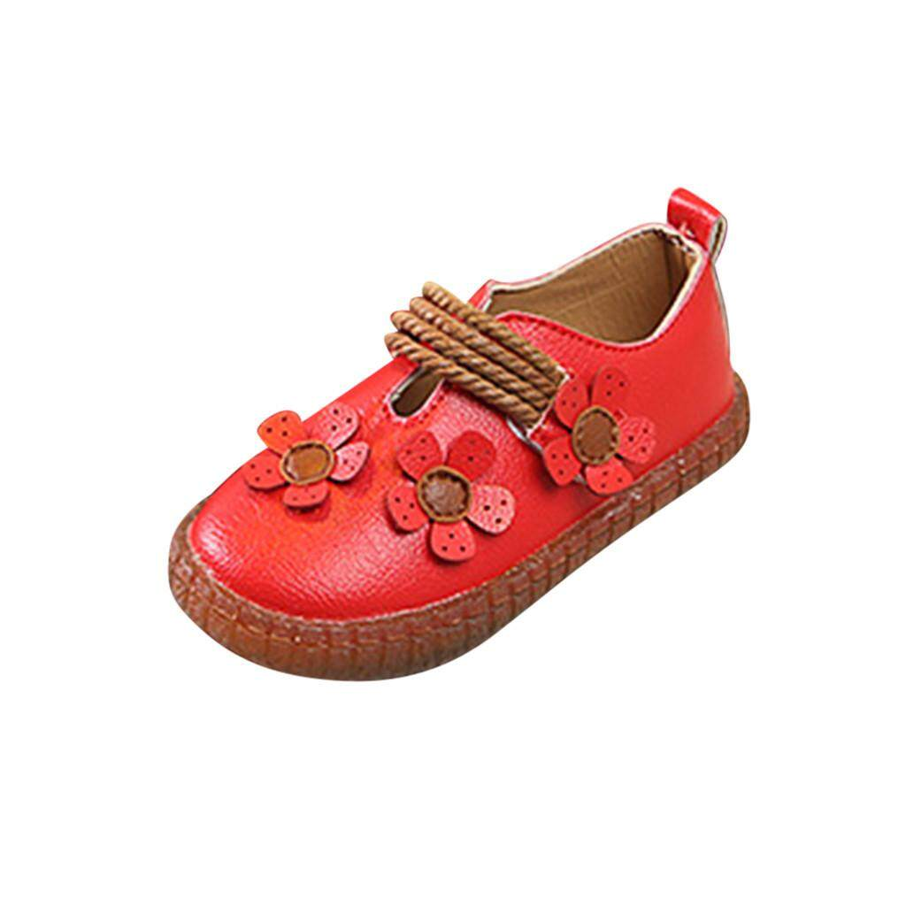 ac5cd86e04e2 viviroom-Toddler Infant Kids Baby Girls Soft Floral Single Princess Shoes  Flat Sandals