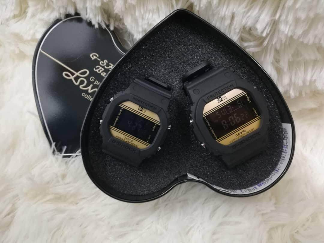 NEW CASUAL COUPLE WATCH SQUARE SHAPE G-S SET FREE BOX Malaysia