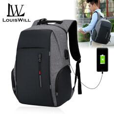 Ba lô đựng laptop có sạc USB tiện lợi thiết kế gọn năng động trẻ trung thích hợp đi học đi làm LouisWill