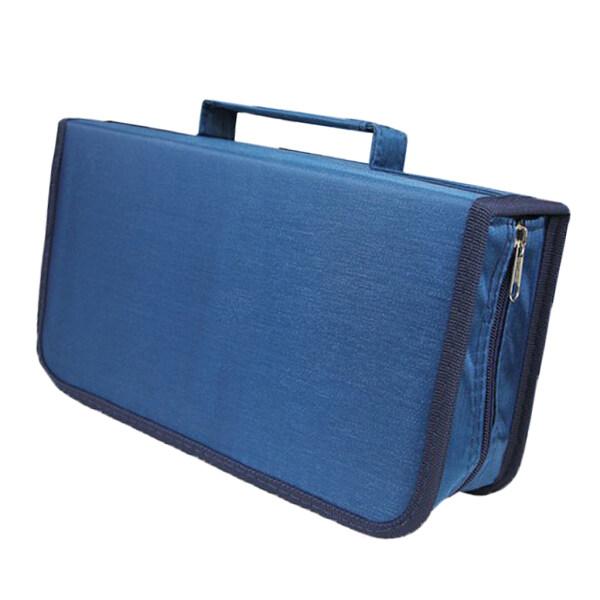 Gazechimp CD DVD Case Holder Organizer Game Disc Wallet Holder DVD Storage Bag Blue