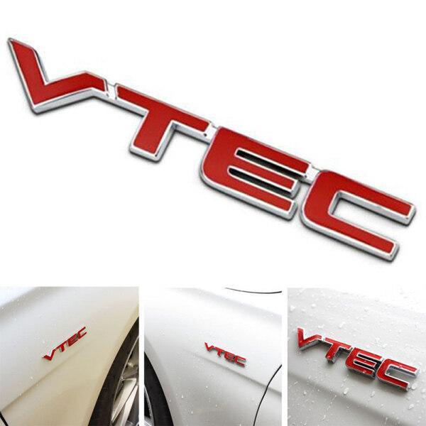 Logo VTEC Kim Loại, Đề Can Dán Huy Hiệu Biểu Tượng Thân Xe Cho Honda Red + Bạc
