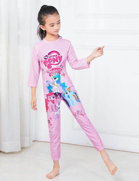 2162a1e8561 【ready Stock - Fast Delivery】cartoon Design One Piece Girls Long Sleeve  Swimsuit Childrens