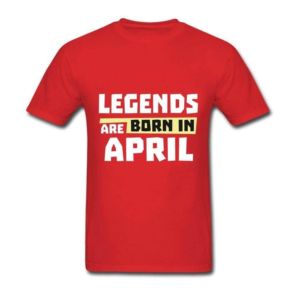 KB 2018 Pakaian Unik Legenda Lahir Pada Bulan April T Shirt Pria Kpop Kualitas Tinggi Lengan Pendek Kustom Ukuran Plus Homme Tees Kemeja