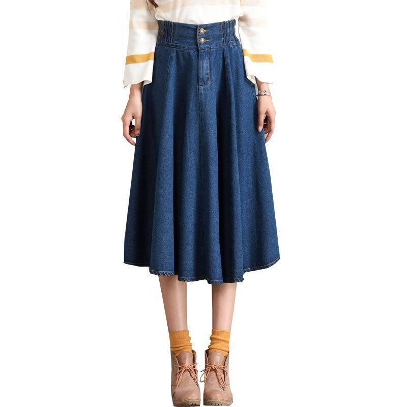 e0e0febbd0b4 Fashion Denim Skirt Pencil Jean Skirt Casual High Waist Denim Skirts Women  Plus Size