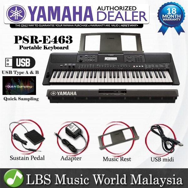 Yamaha PSR-E463 61 Keys Portable Keyboard Basic With Yamaha Sustain Pedal (PSRE463 PSR E463) Malaysia