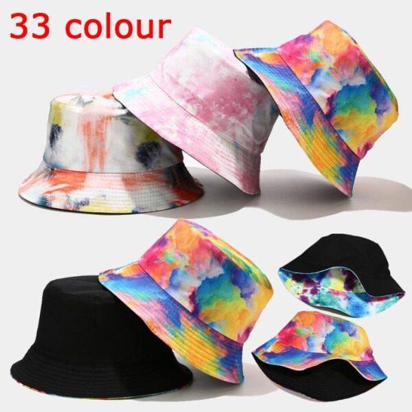 Giá bán Mũ Đeo Hai Mặt Mũ Tai Bèo Che Nắng Mũ Xu Hướng Đường Phố Nam Nữ, Mũ Ngư Dân Nữ Nhuộm Màu Họa Tiết Vẽ Tranh Mực
