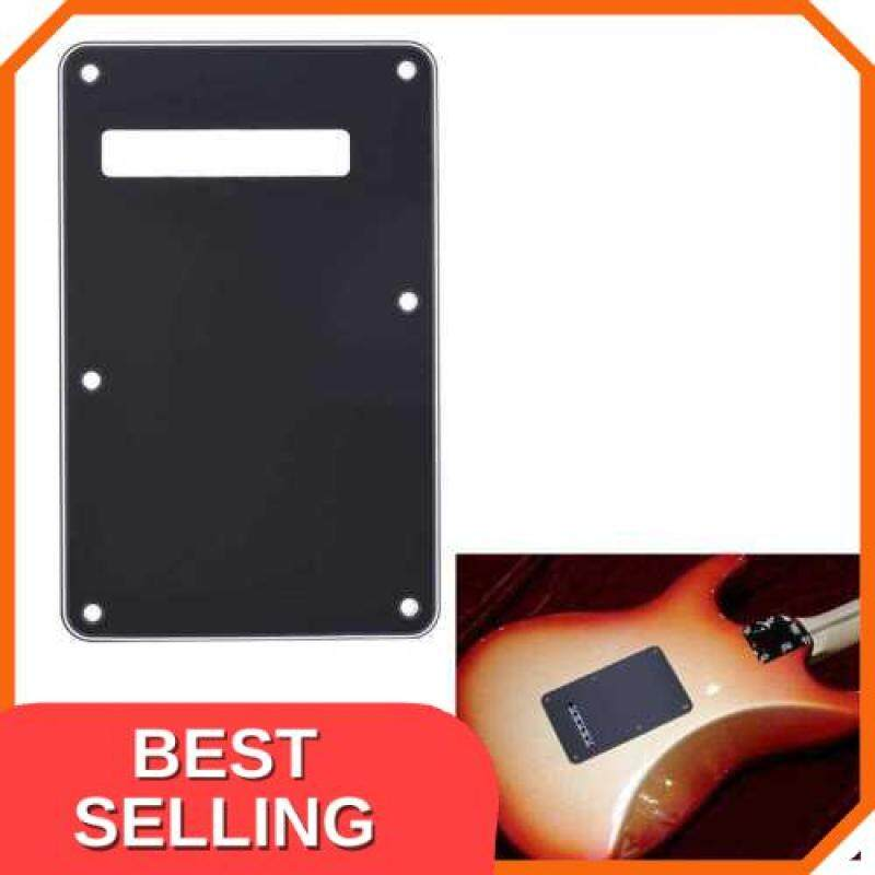 BEST SELLING Pickguard Tremolo Cavity Cover Backplate Back Plate 3Ply for Fender Stratocaster Strat Modern Style Electric Guitar Black (Black) Malaysia
