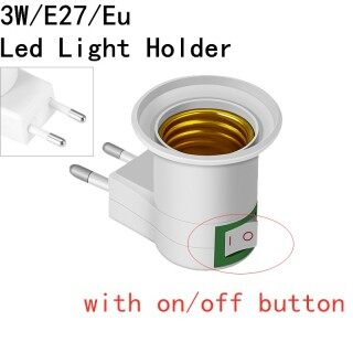 3W E27 Wireless Base LED Light Lamp Bulb Fireproof Holder EU Plug Auto Rotating LED Stage Light Bulb Disco Party Lamp Holder Adapter Converter Socket Change With ON OFF Button Home Bulb Holder Plug and play International standard screw thumbnail
