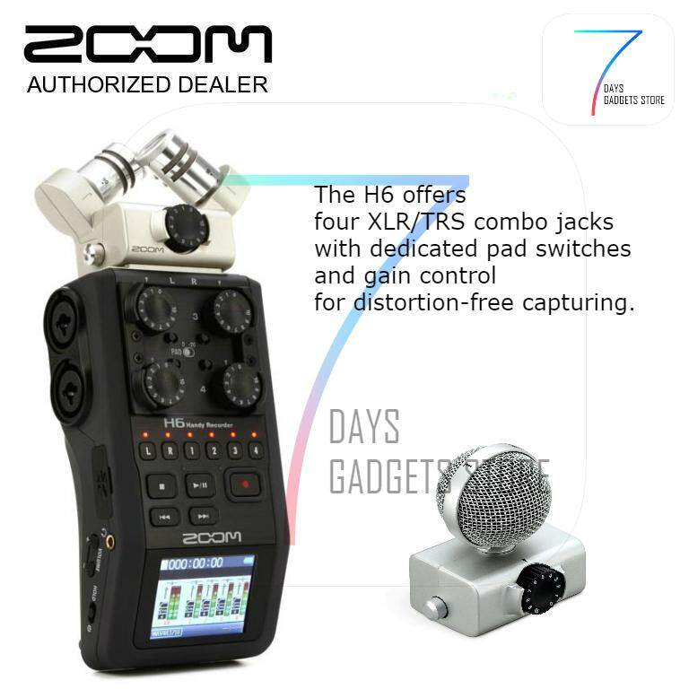Zoom H6 Handy Recorder with Interchangeable Microphone System ( Ready Stock  )