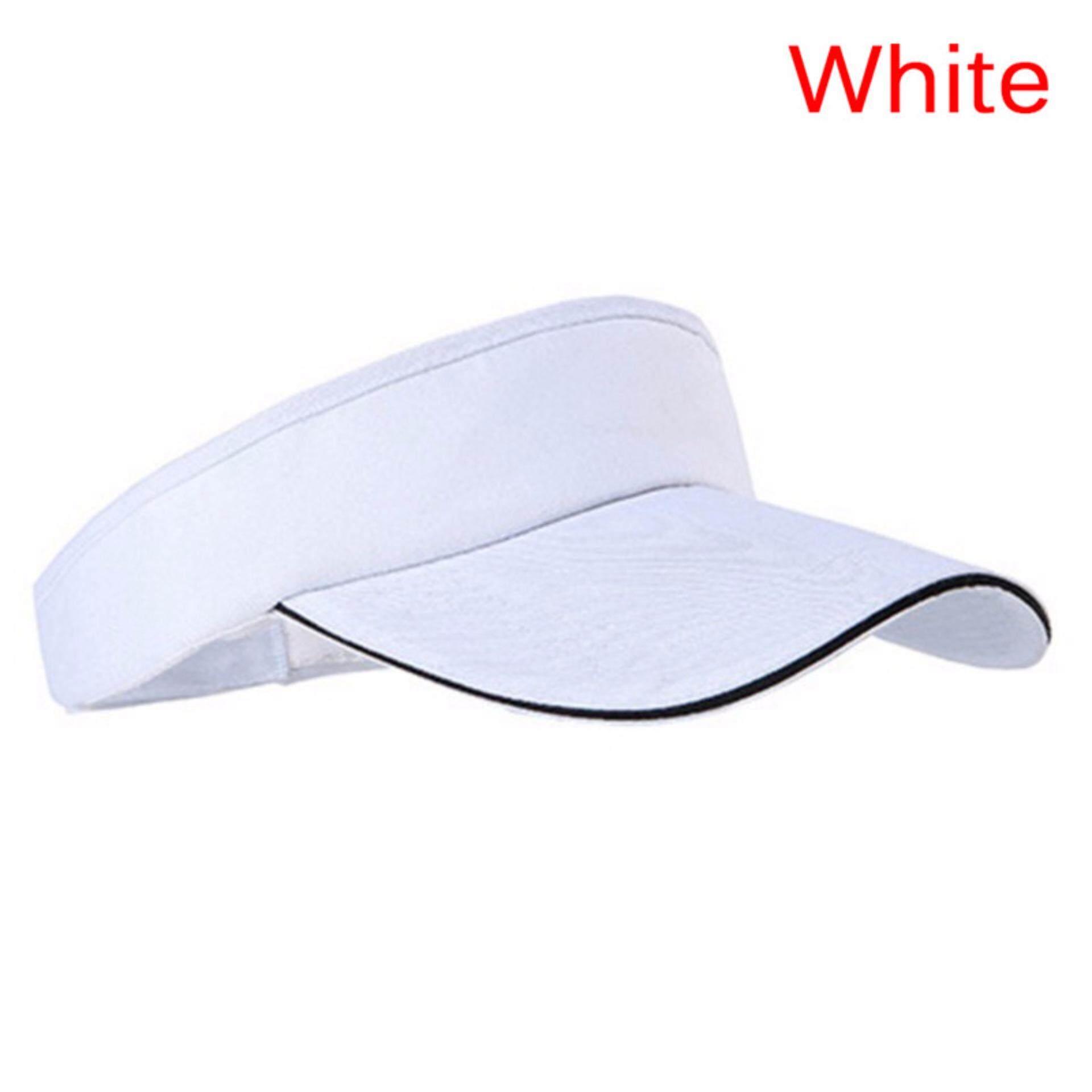 Adjustable Unisex Men Women Plain Sun Visor Sport Golf Tennis Breathable Cap  Hat e2045564a8cd